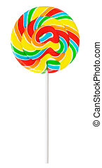 Lollipop - large lollipop on stick, isolated on white