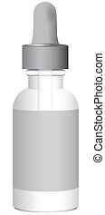 Medical drug - Medical product with a pipette bottle Vector...