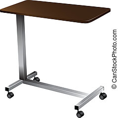 Over Bed Table - Lightweight portable medical table for...