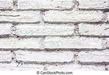 White brick wall texture for a background