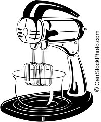 Kitchen Blender Vintage Clip Art