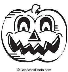 Halloween Pumpkin Face Clip Art