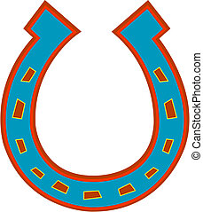 Horseshoe Clip Art - Horseshoe clip art in western colors