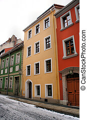 Old houses - Renovated houses in the old town of Goerlitz in...