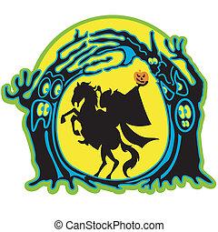 Halloween headless horseman clip art