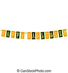 Happy Halloween border frame sign