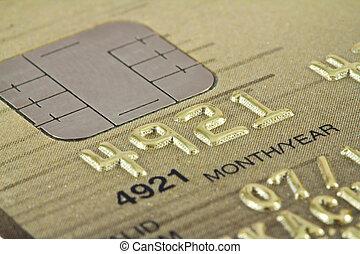 Smart card macro , credit card chip