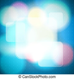 bokeh background with frames as banners