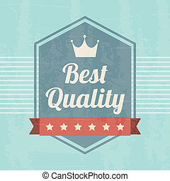 premium quality over blue background. vector illustration