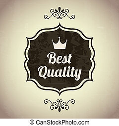 premium quality over beige background. vector illustration