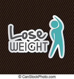 lose weight over black background vector illustration