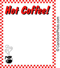 Coffee frame border background.