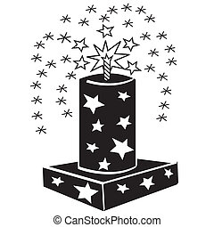 4th of July fireworks clip art