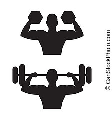 muscular man isolated over white background. vector...