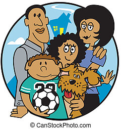 Family Mom Dad Kids Clip Art