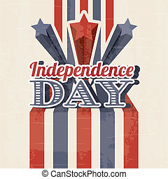 independence day illustration over beige background. vector