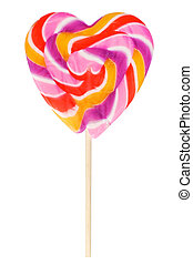 Heart-Shaped Lollipop - large heart-shaped lollipop on...