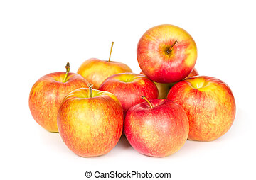 ripe apples   - ripe apples isolated on a white background.