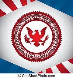 united states symbol, bald eagle vector illustration