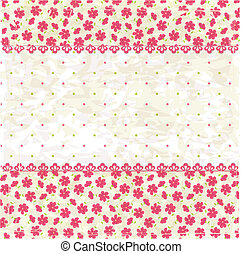 Vintage flower background - Vintage grunge flower background