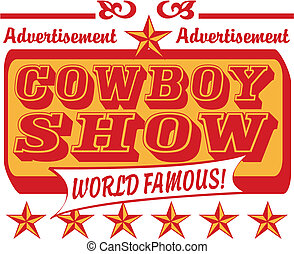 Cowboy sign vector clip art graphic