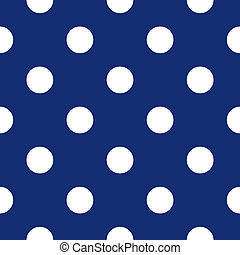 Dark blue seamless dots pattern - Seamless vector pattern...