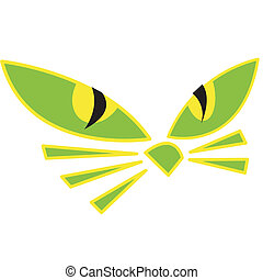 Halloween cat eyes clip art
