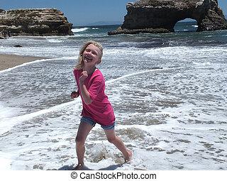 Natural Bridges and Bree - Natural Bridges State Beach Santa...