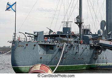 Cruiser Aurora - Cruiser Aurora on eternal parking in the...