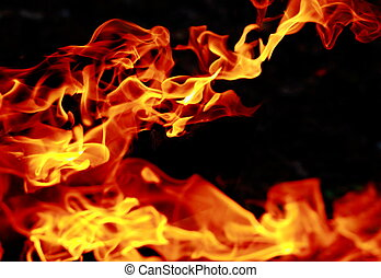 Bright black yellow fire abstract background