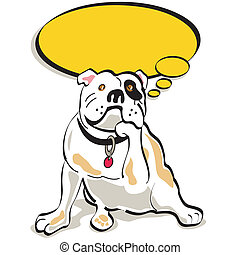 Bulldog dog clip art graphic