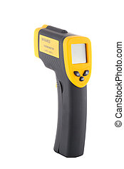 infrared thermometer on a white background, isolated object