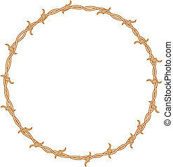 Barbed wire border frame background