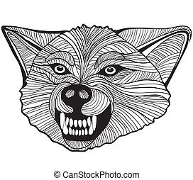 Wild wolf Vector Graphics - Wolf head vector animal...