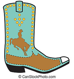 Western boot clip art