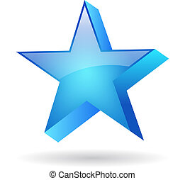 Vector blue star