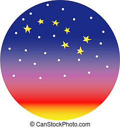 Big dipper star constellation or sunset clip art