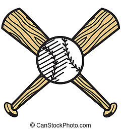 Baseball and bat clip art