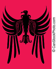 hearldry tribal eagle vector art