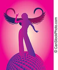 disco angel girls vector art