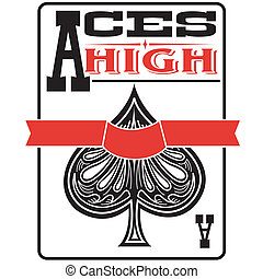 Ace Of Spades Sign Clip Art