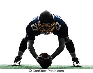 center american football player man silhouette - one center...