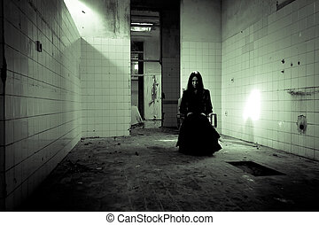 Horror Scene - Horror scene of a scary woman