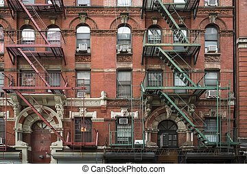 Apartment building, Manhattan, New York City - Old apartment...