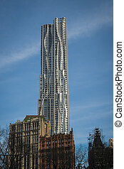 New York by Gehry Building, New York City - New York by...