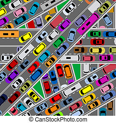 trafik, blodstockning, Redd