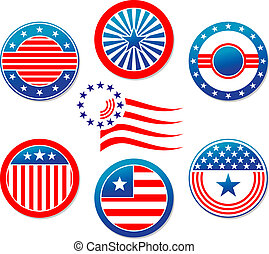 American national banners and symbols set for election...