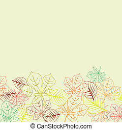 Autumnal background with leaves shapes