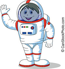 Astronaut cartoon - Vector illustration of Astronaut cartoon