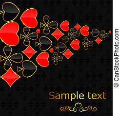 Abstract background with card suits for design Vector...